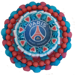 Photo Gateau de bonbon PARIS SAINT GERMAIN - Le Manège à Bonbons - Béziers Hérault Occitanie