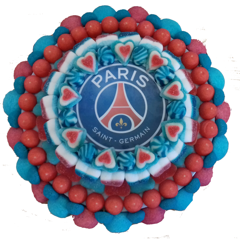Photo Gateau de bonbon PARIS SAINT GERMAIN , Le Manège à Bonbons , Béziers  Hérault Occitanie