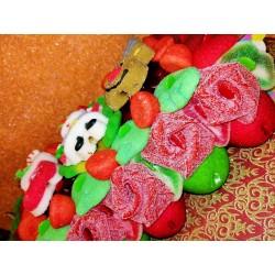 gateau-de-bonbons-bûche-noël-le-manege-a-bonbons-Beziers-Herault-34-Occitanie 2